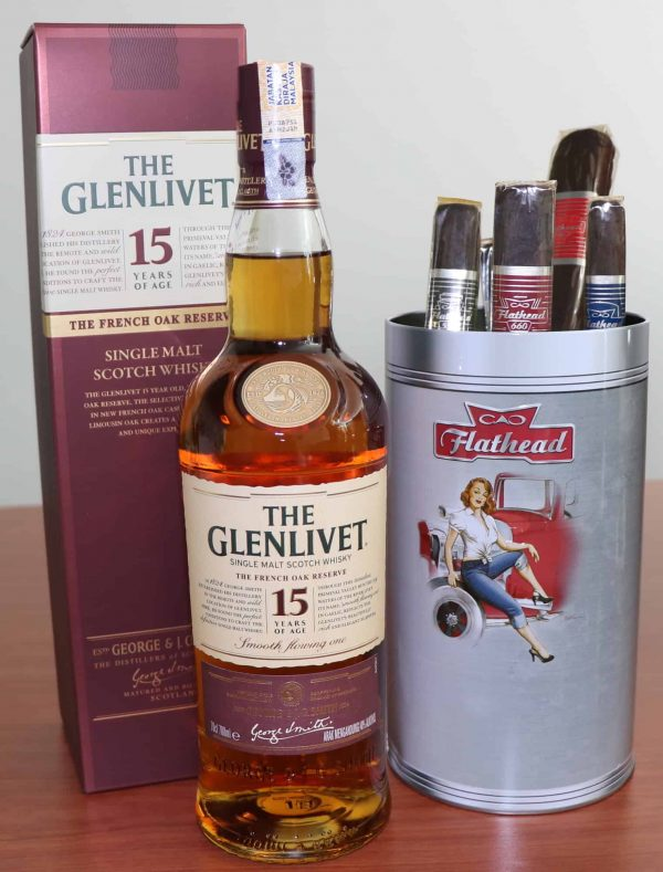 The Glenlivet 15 Year Old with Cao Cigars