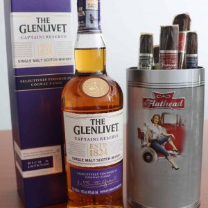 The Glenlivet Captain's Reserve with Cao Cigars