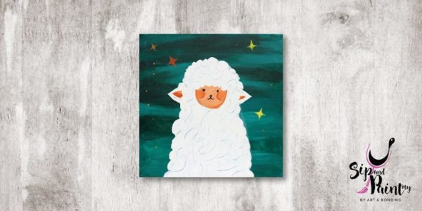 Little Sheep Sip and Paint 1