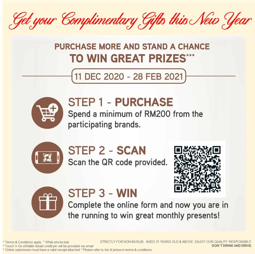 Get Touch 'n Go credits for your Christmas and Chinese New Year purchases up till 28 Feb 2021! 36